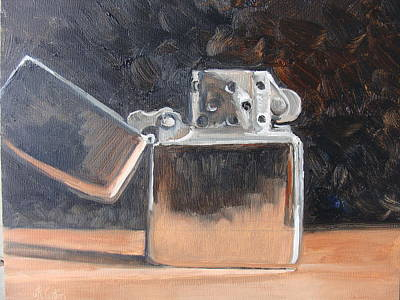 Painting - Zippo by Judy Fischer Walton