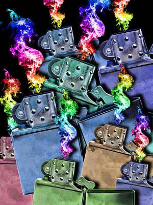 Painting - Zippo Lighter Mayhem Pop 2 by Tony Rubino