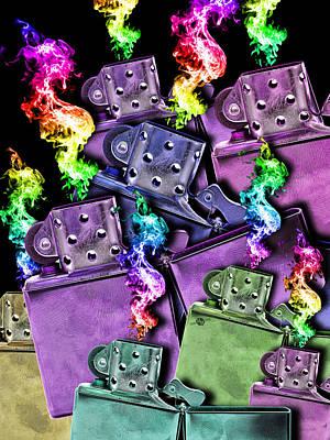 Painting - Zippo Lighter Mayhem Pop 4 by Tony Rubino