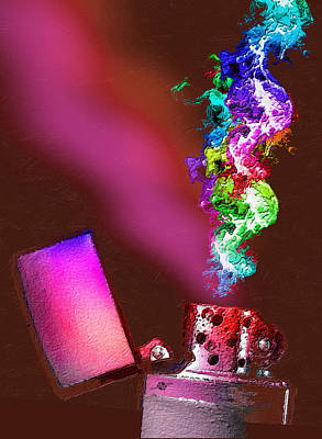 Zippo Lighter Rainbow 3 Original by Tony Rubino