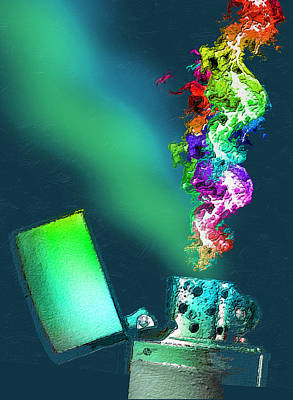 Zippo Lighter Rainbow 4 Original by Tony Rubino