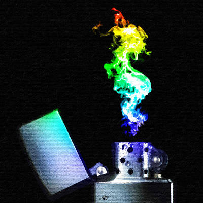 Zippo Lighter Rainbow Square Original by Tony Rubino