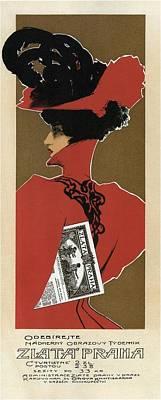 Mixed Media - Zlata Praha - Czech Weekly Illustrated Newspaper - Vintage Advertising Poster by Studio Grafiikka