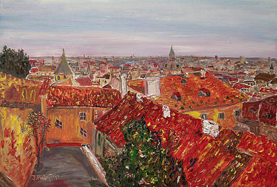 Praha Painting - Zlata Praha by Ivan Ribarchuk