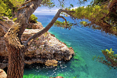Photograph - Zlatne Stijene Stone Beach In Pula View by Brch Photography