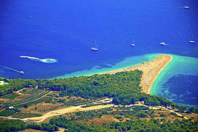 Photograph - Zlatni Rat Beach Aerial View by Brch Photography