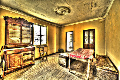 Photograph - Zoagli Abandoned Home Meeting Room by Enrico Pelos