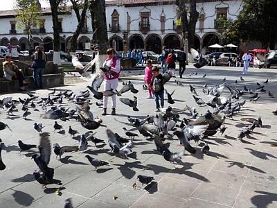 Photograph - Zocalo In Patzcuaro by Rosanne Licciardi