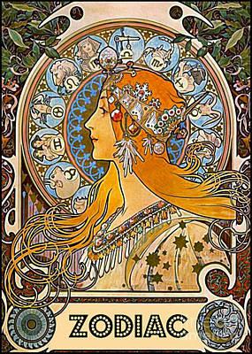 Zodiac 1896 Art Print