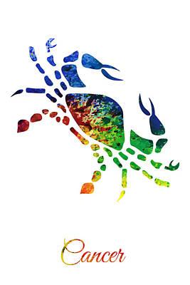Digital Art - Zodiac Cancer by PixBreak Art