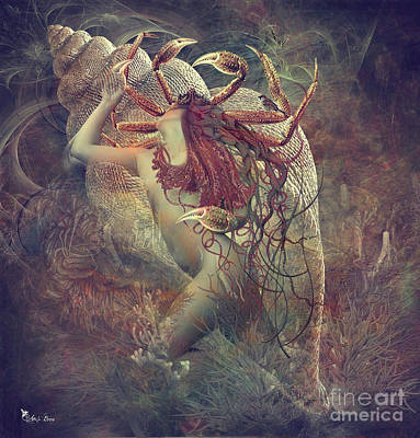 Digital Art -  Zodiac Cancer The Crab by Ali Oppy