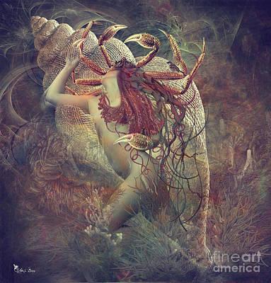 Digital Art -  Zodiac Cancer The Crab by Ali Oppy