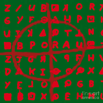 Napa Digital Art - Zodiac Killer Code And Sign 20130213 by Wingsdomain Art and Photography