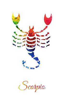 Digital Art - Zodiac Scorpio by PixBreak Art