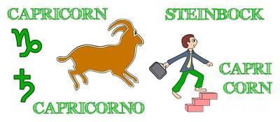 Digital Art - Zodiac Sign Capricorn by Gabriele Pomykaj