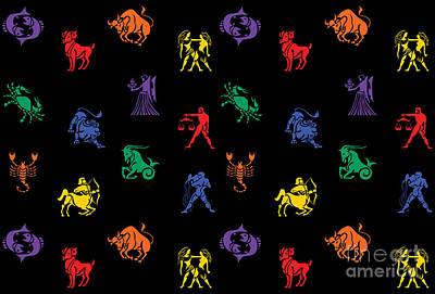 Zodiac Digital Art - Zodiac Sign Icon by Naviblue