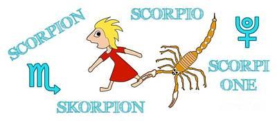 Digital Art - Zodiac Sign Scorpio by Gabriele Pomykaj