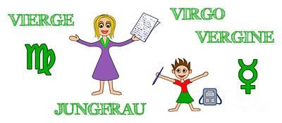 Digital Art - Zodiac Sign Virgo by Gabriele Pomykaj