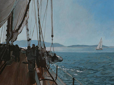 Zodiac Painting - Zodiac Under Sail by Robert Bissett