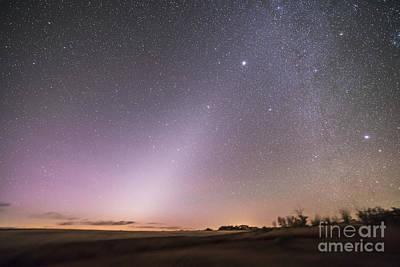 Zodiacal Light In Dawn Sky, Alberta Art Print by Alan Dyer