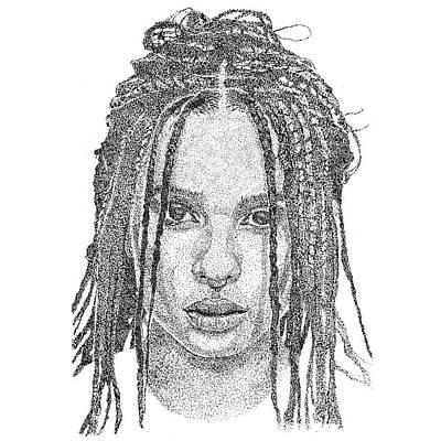 Zoe Kravitz Wall Art - Drawing - Zoe Kravitz  by Marcus Price