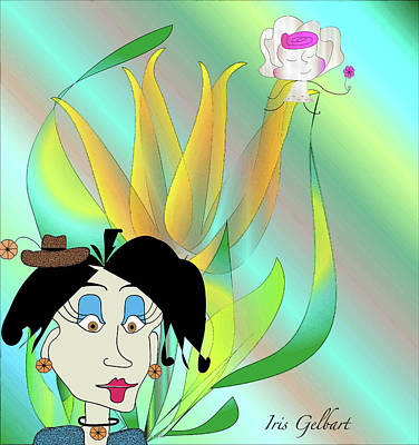 Digital Art - Zoe's Yellow Flower by Iris Gelbart
