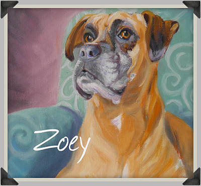 Painting - Zoey T Shirt To Order by Sharon Casavant