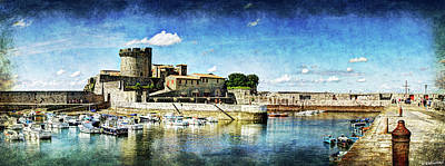 Photograph - Zokoa Harbor Fortress - Vintage Version by Weston Westmoreland