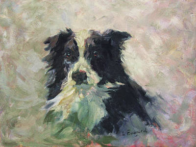 Painting - Zola The Watchful Border Collie by Lynn Gimby-Bougerol