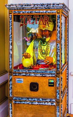 Zoltar Fortune Reader Art Print by Garry Gay