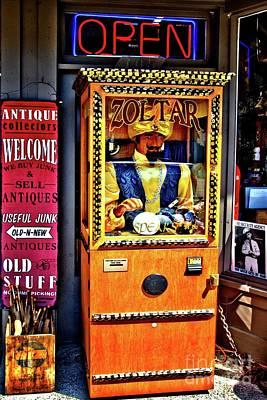 Zoltar... Tells Your Fortune Art Print by Lauren Leigh Hunter Fine Art Photography