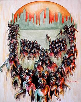 Zombie Apocalypse Print by Al  Molina