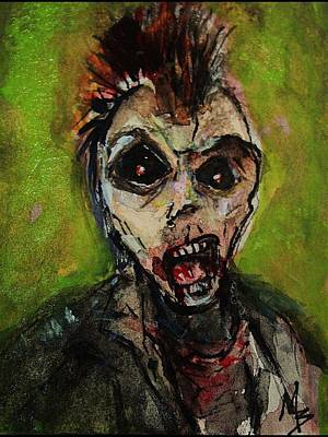 Painting - Zombie Apocolypse Art by Michele Carter