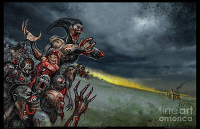 Mixed Media - Zombie Feast by Tony Koehl