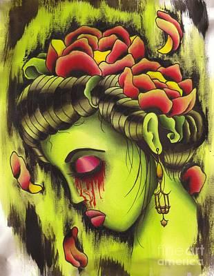 Zombie Girl No2 Art Print by Lauren B