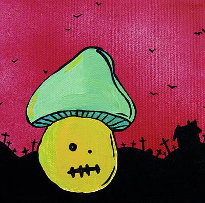 Haunted House Mixed Media - Zombie Mushroom 2 by Jera Sky