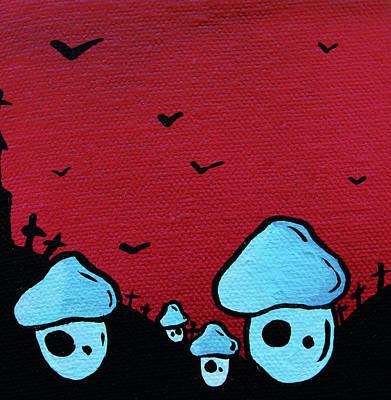 Abomination Painting - Zombie Mushroom Army by Jera Sky