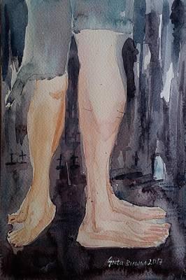 Painting - Zombies In Love by Geeta Biswas