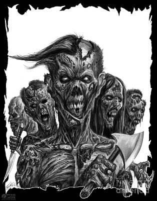Tonykoehl Wall Art - Drawing - Zombies  by Tony Koehl