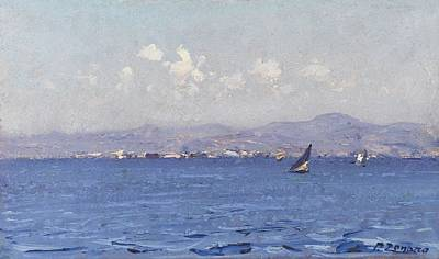 Painting - Zonaro  Fausto   Sailing Boats In  Landscape by Artistic Panda
