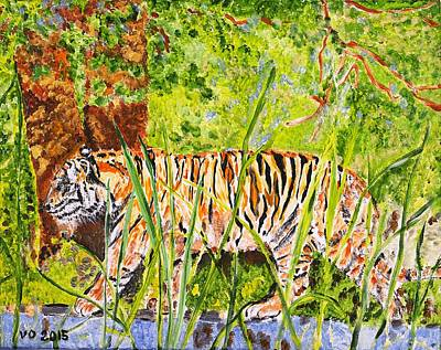 Painting - Zoo Tiger by Valerie Ornstein