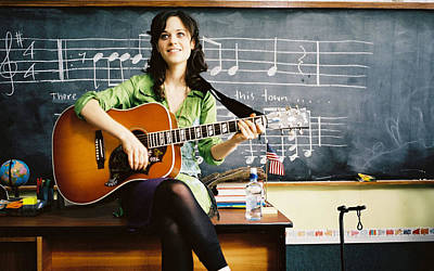 Musical Instruments Wall Art - Photograph - Zooey Deschanel by Jackie Russo