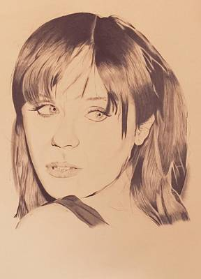 Zooey Deschanel Wall Art - Drawing - Zooey Deschanel by Stephon Wright
