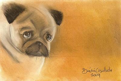 Zooey The Pug Art Print by Dindin Coscolluela
