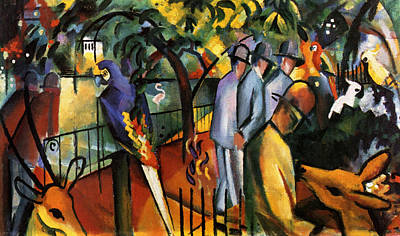Farm Life Paintings Rob Moline - Zoological Garden by August Macke