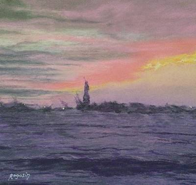 Painting - Zooming In On Ms Liberty by Harvey Rogosin