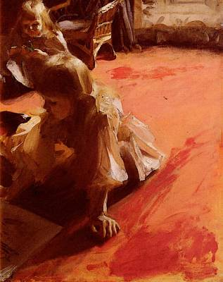 Photograph - Zorn Anders A Portrait Of The Daughters Of Ramon Subercasseaux by Anders Zorn