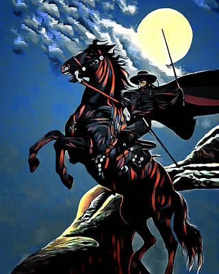 Digital Art - Zorro by Pennie McCracken
