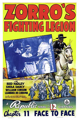 Mixed Media - Zorro's Fighting Legion 1939 by Republic