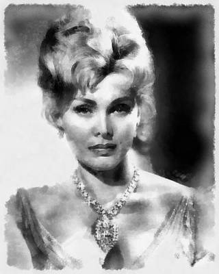 Musicians Royalty-Free and Rights-Managed Images - Zsa Zsa Gabor by John Springfield by John Springfield